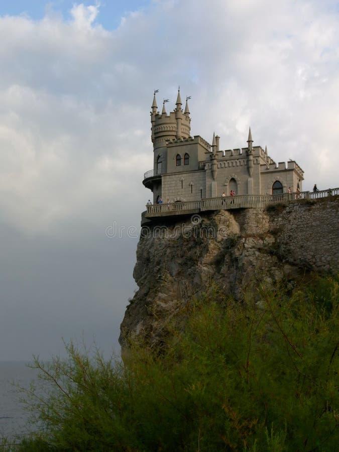 Château de l'emboîtement de l'hirondelle photo libre de droits