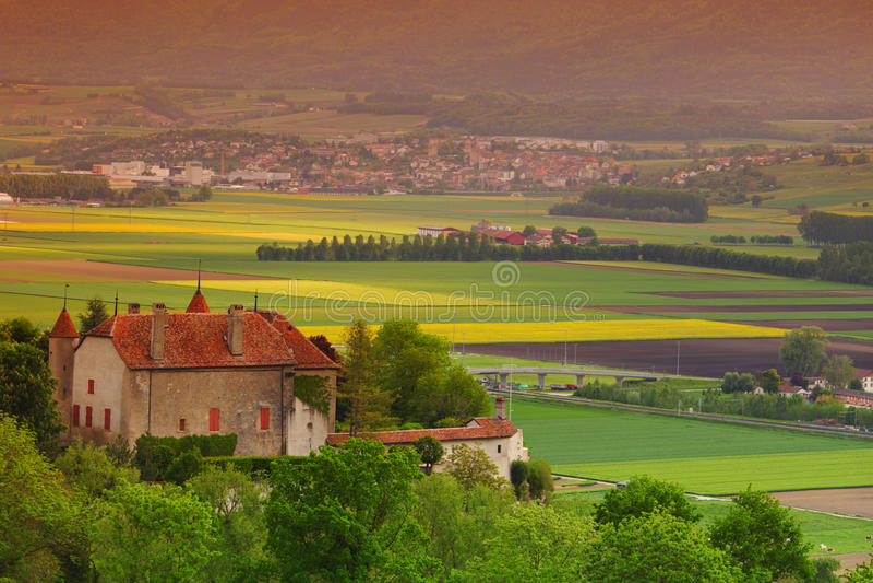 Château de lanscape de l'Allemagne photo stock