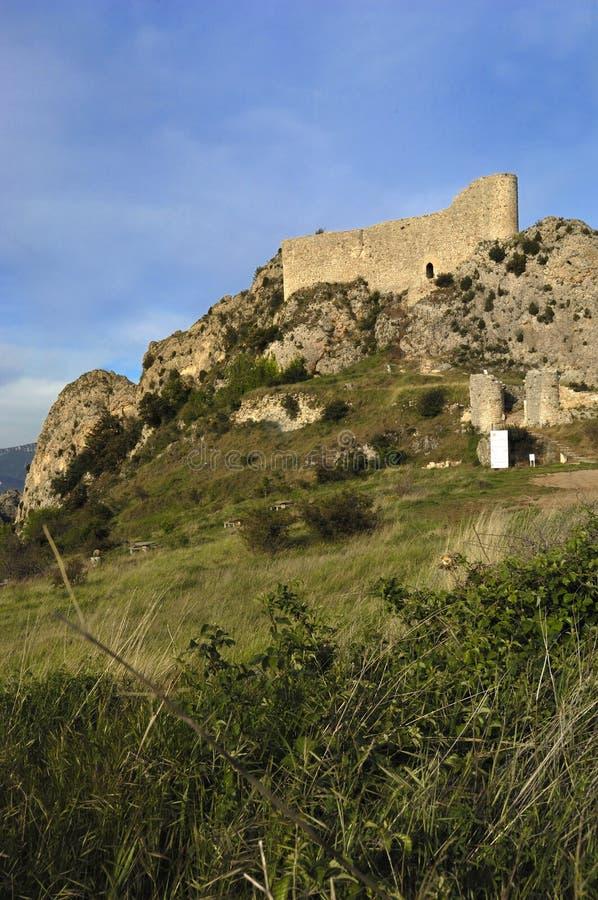 Château de Las Rojas, La Bureba, province de Burgos, Castille-Léon, Spai photographie stock