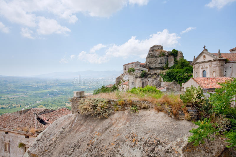 Château de Lauria en Castiglione di Sicilia photographie stock