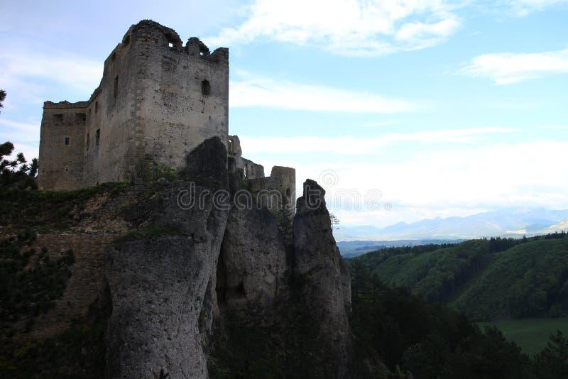 Château de Lietava, secteur de Žilina photo stock