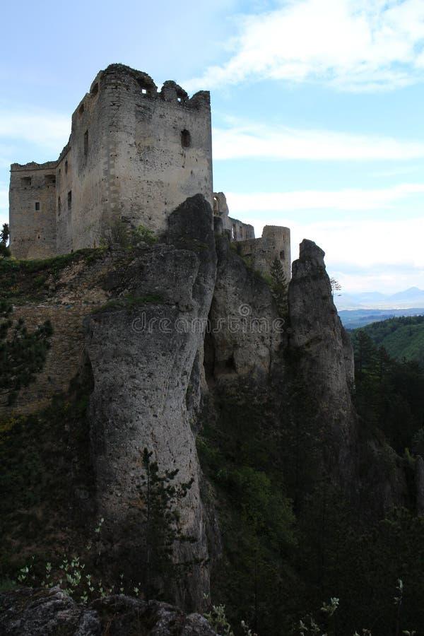 Château de Lietava, secteur de Žilina photo libre de droits