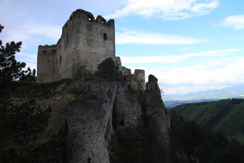 Château de Lietava, secteur d'ilina de ½ de Å photo stock