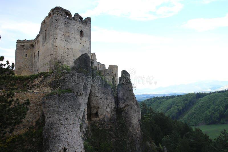 Château de Lietava, secteur d'ilina de ½ du 'de Ã'à de ¡ de ¬Å de 'd'¦ÃÆ'ââ de 'd'Չۈ de † de ÃÆ'à photos stock