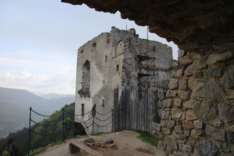Château de Lietava, secteur de Zilina images stock