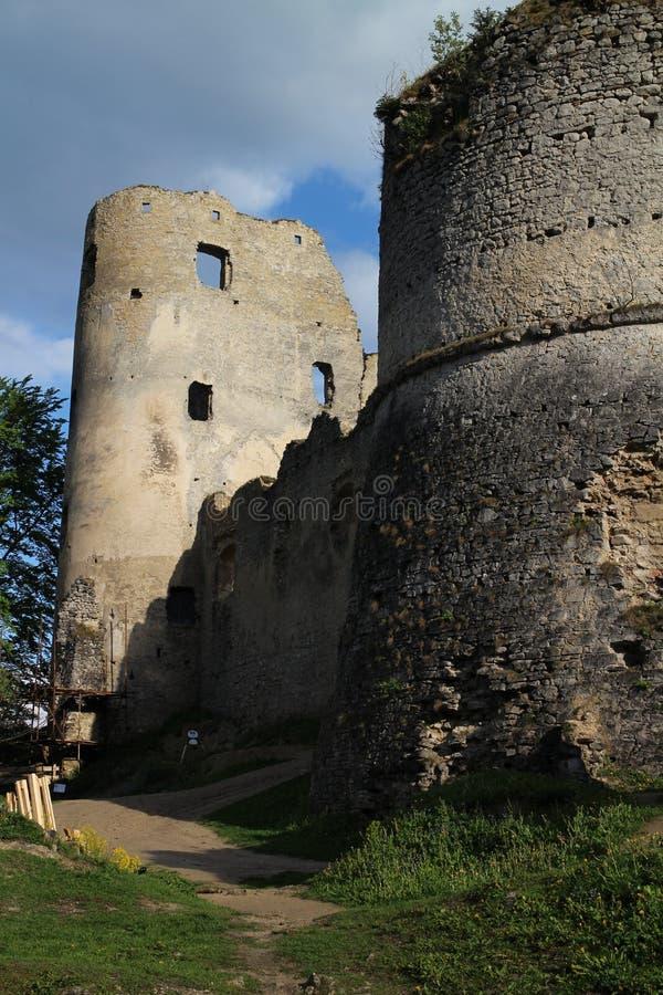Château de Lietava, secteur de Zilina photographie stock