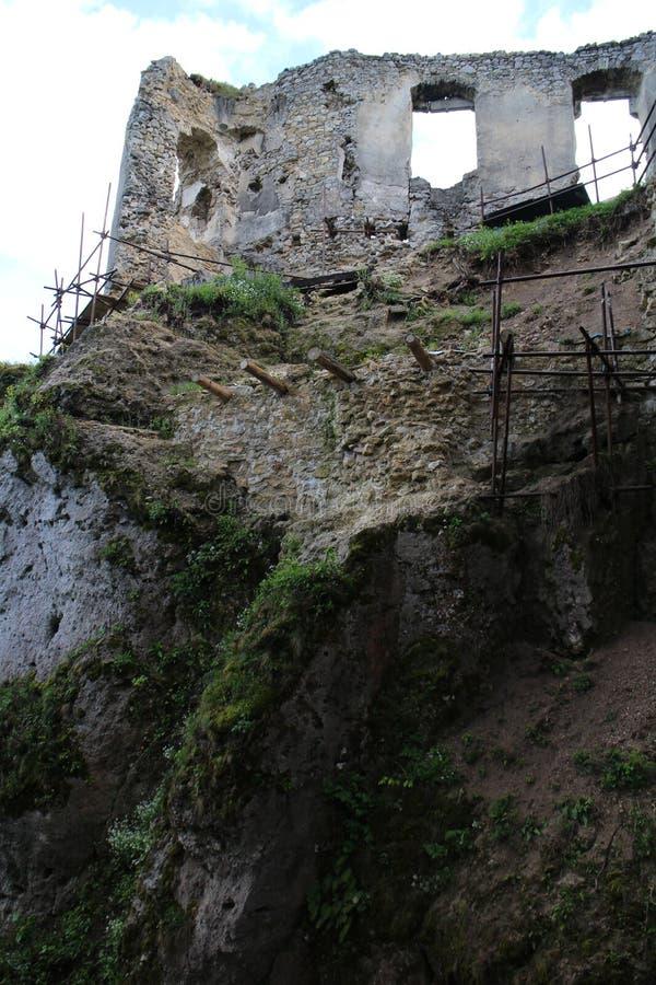 Château de Lietava, secteur de Zilina photo libre de droits