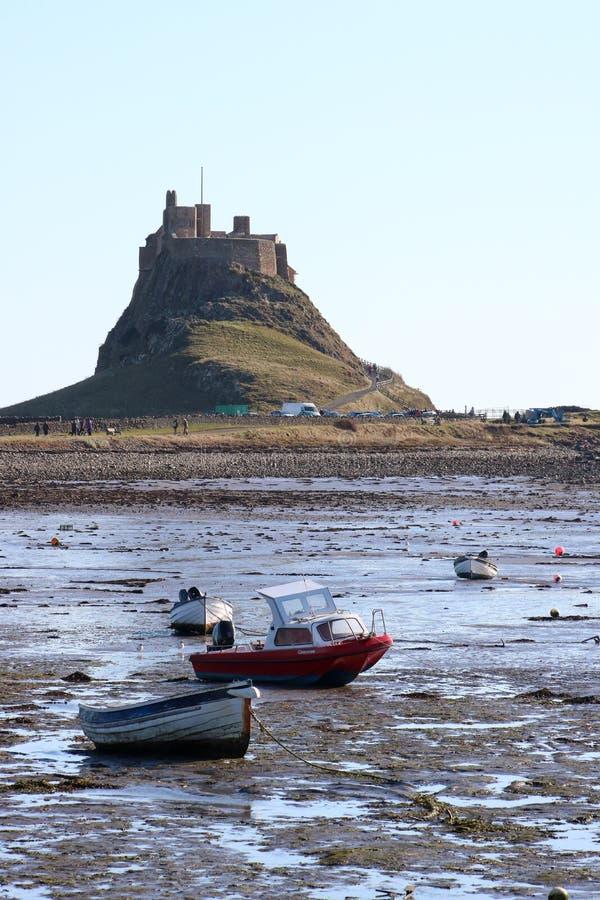 Château de Lindisfarne, île sainte, le Northumberland R-U images stock