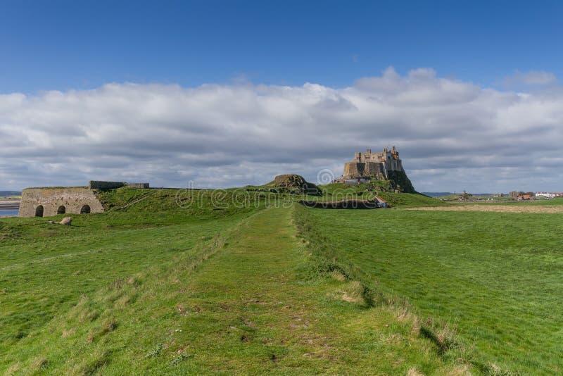 Château de Lindisfarne photos stock