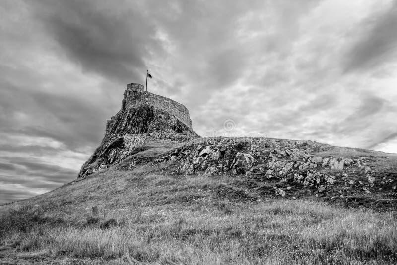 Château de Lindisfarne photo stock