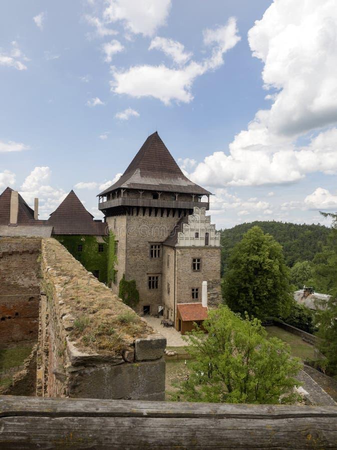 Château de Lipnice depuis le début de la République Tchèque du 14ème siècle et images libres de droits