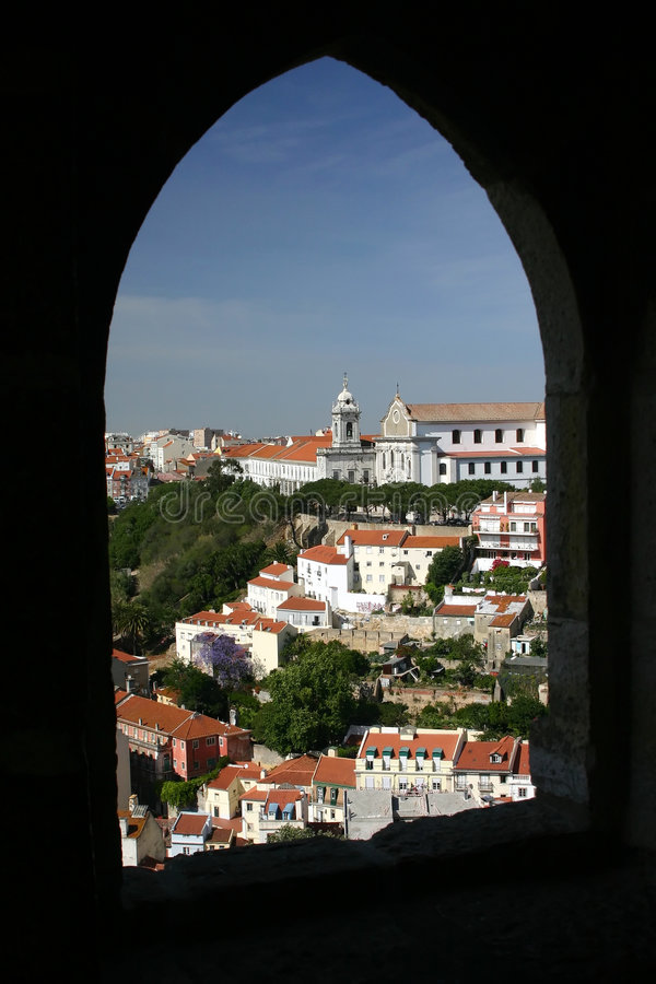 Château de Lisbonne photos stock