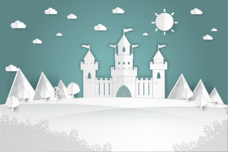 Château de livre blanc illustration de vecteur