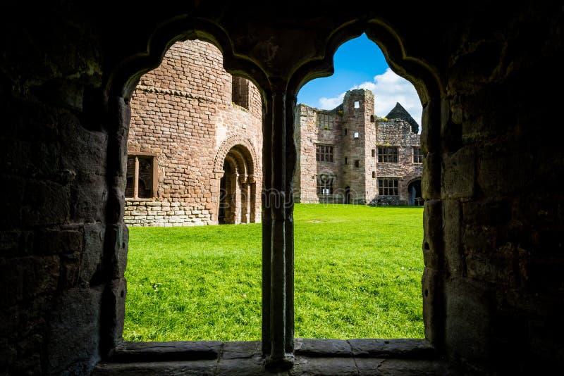 Château de Ludlow au Shropshire images libres de droits