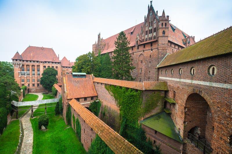 Château de Malbork dans la forteresse médiévale de la Pologne construite par le Teutonic image libre de droits
