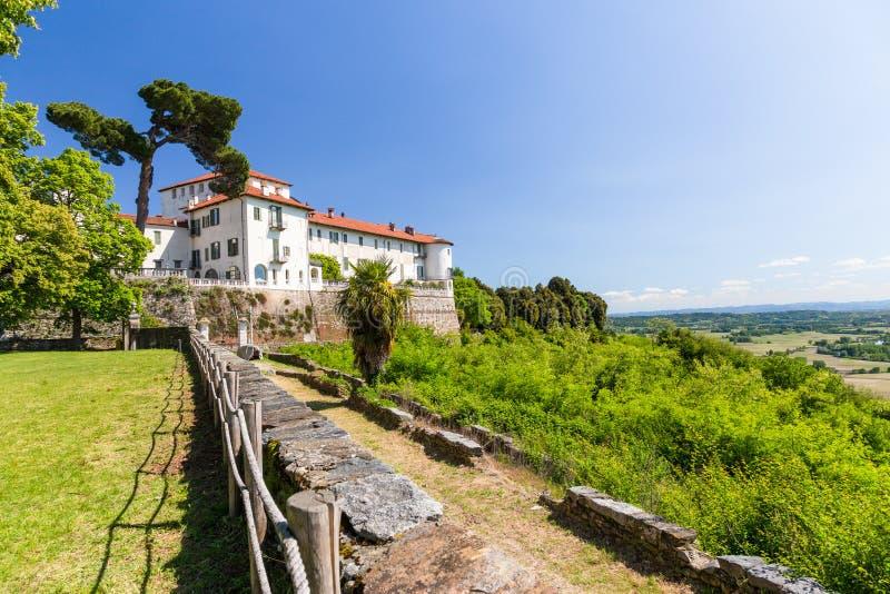 Château de Masino dans la région de Piémont, Italie photos libres de droits