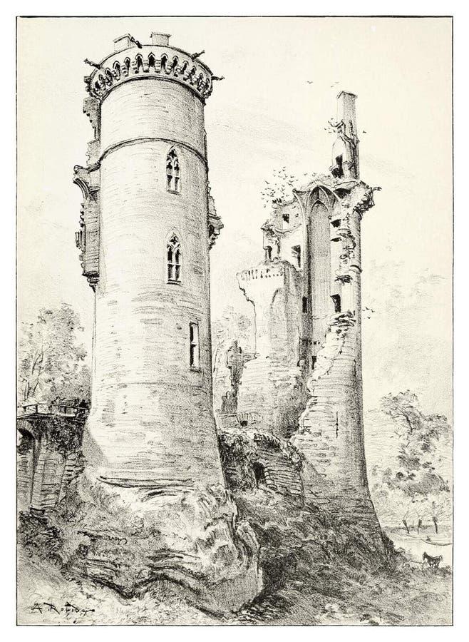Château de Mehun-sur-Yèvre image libre de droits