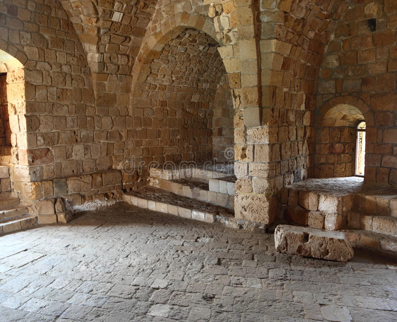 Château de mer de croisé de Sidon, Liban photos stock