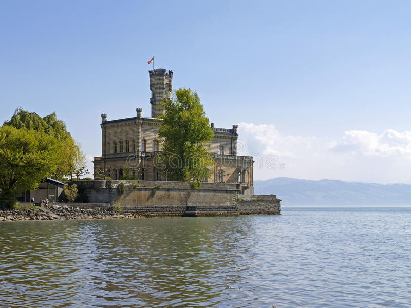 Château de Montfort dans Langenargen chez le Lac de Constance image libre de droits