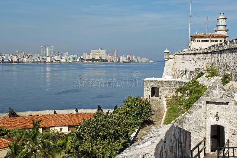 Château de Morro avec La Havane images stock