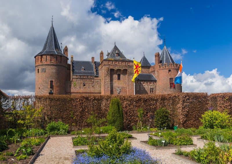 Château de Muiderslot près d'Amsterdam - les Pays-Bas photos libres de droits