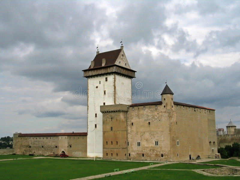 Château de Narva, Estonie photos stock