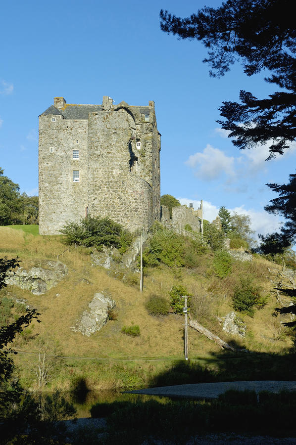Château de Neidpath photo libre de droits