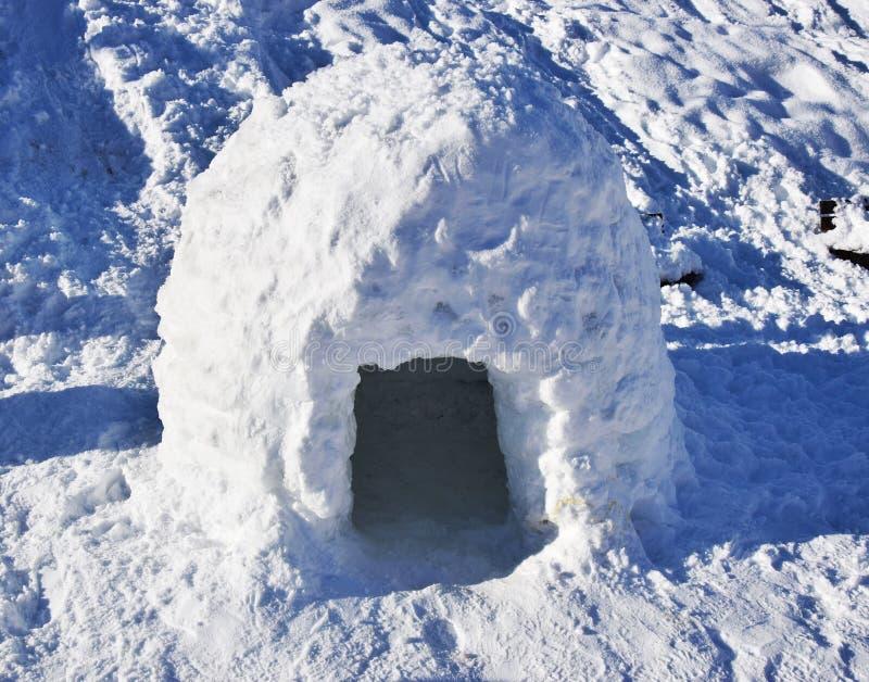 Château de neige en Auronzo di Cadore, beau paysage, montagnes de Dolomiti, Italie images libres de droits