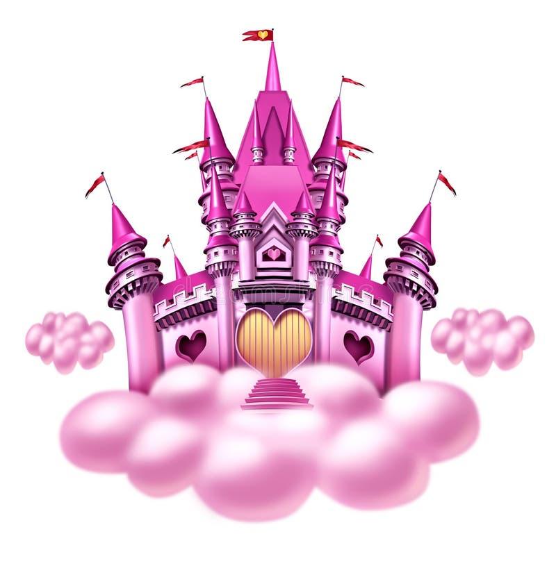 Château de nuage d'imagination illustration stock