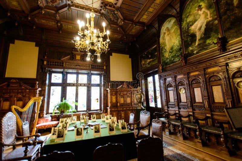 Château de palais de Peles dans Sinaia, Roumanie images libres de droits