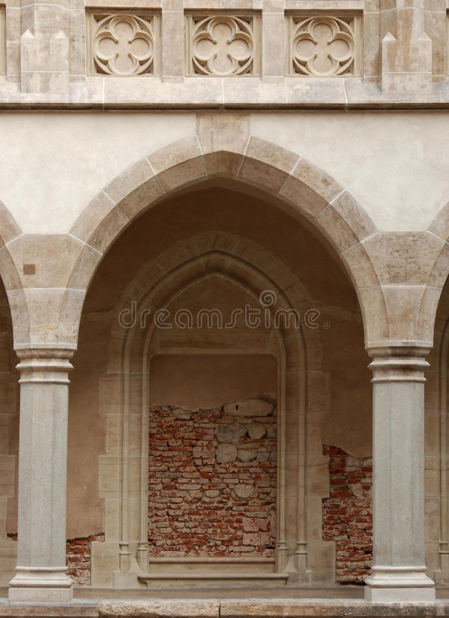château de passage arqué images libres de droits