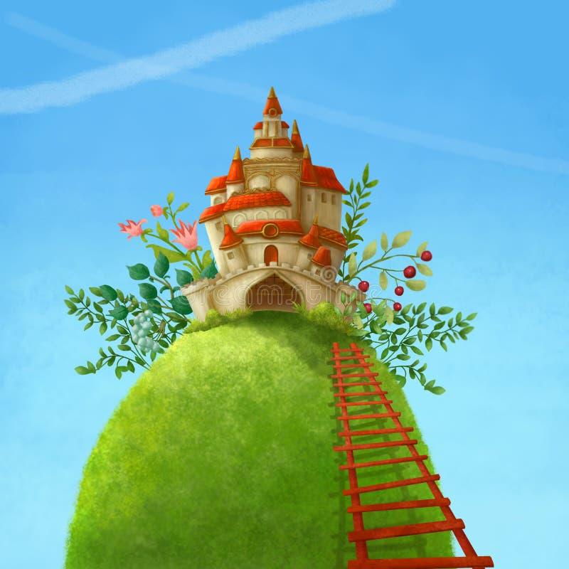 Château de pays du pays des merveilles illustration libre de droits