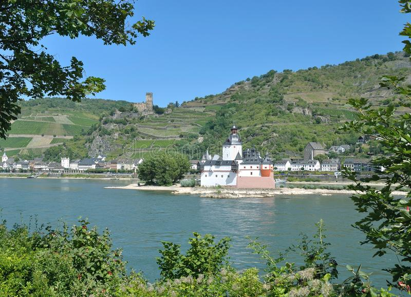 Château de Pfalzgrafenstein, Kaub, le Rhin, Allemagne images stock