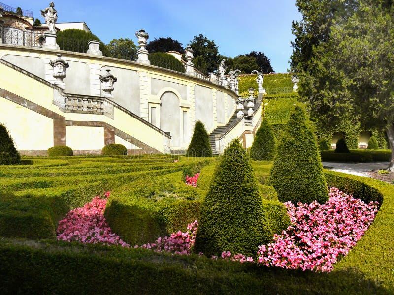 Château de Prague, jardin de palais de Vrtba photos libres de droits