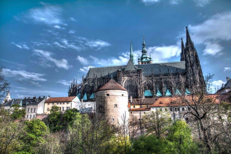 Château de Prague Jour ensoleillé images stock
