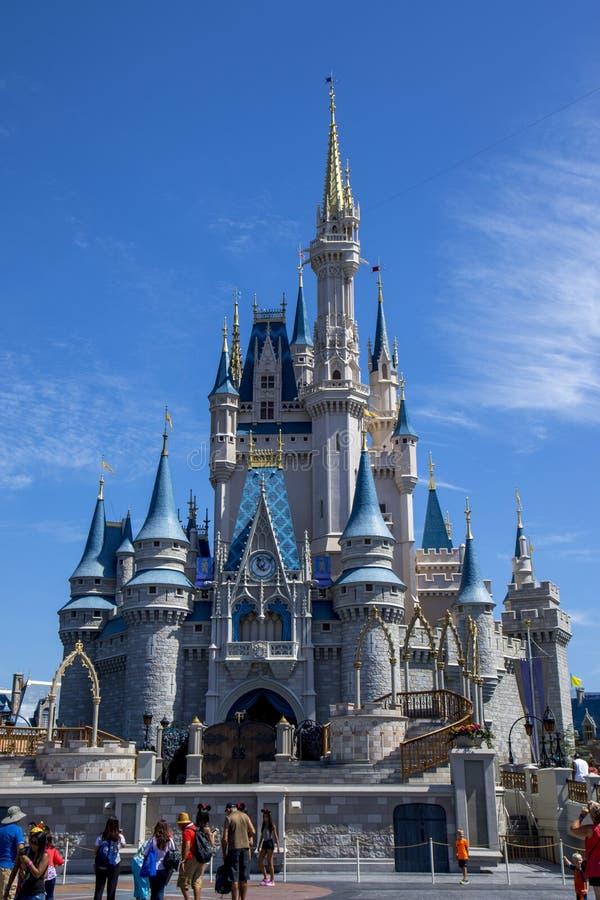 Château de princesse de Cendrillon au monde la Floride de Disney image libre de droits