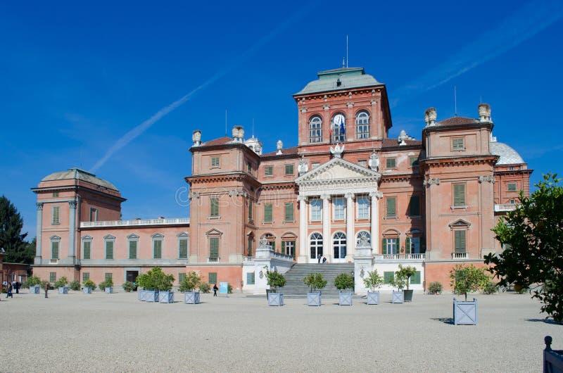 Château de Racconigi près de Turin, Italie. Façade image stock