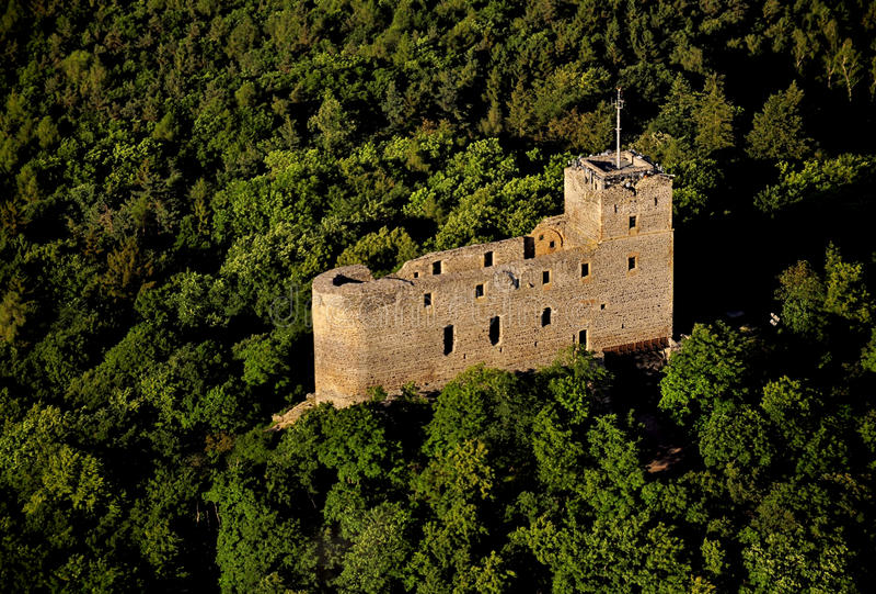 Château de Radyne - photo d'air image stock