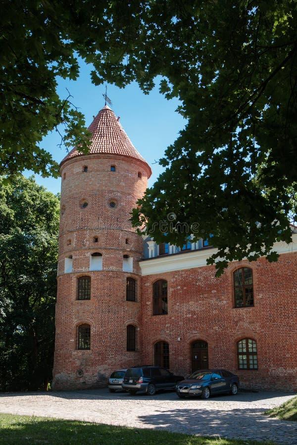 Château de Raudondvaris image libre de droits