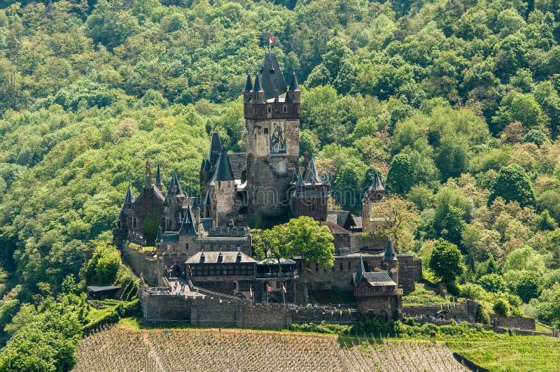 Château de Reichsburg, Cochem images libres de droits