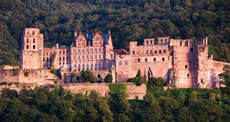 Château de rouge d'Heidelberg photographie stock libre de droits