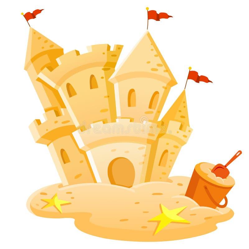 Château de sable illustration de vecteur