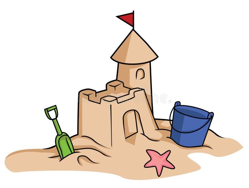 Château de sable illustration stock