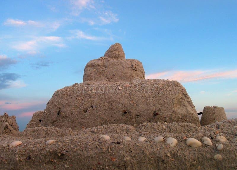 Château de sable photographie stock