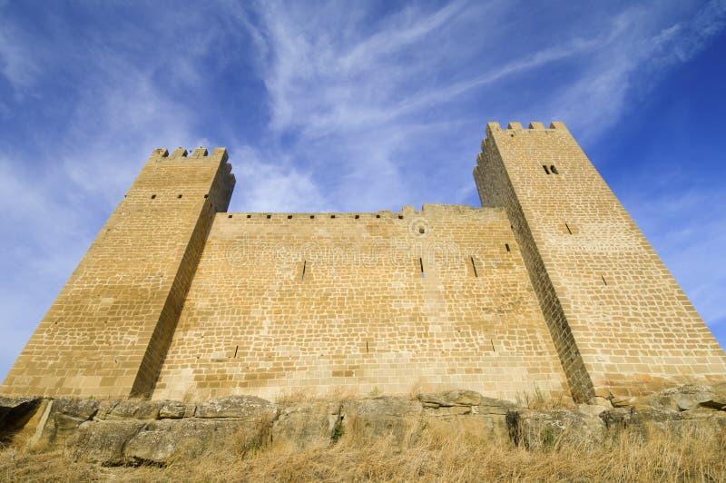 Château de Sadaba photographie stock libre de droits