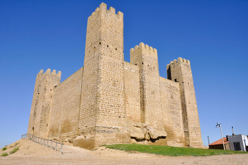 Château de Sadaba, Zaragoza (Espagne) photographie stock libre de droits