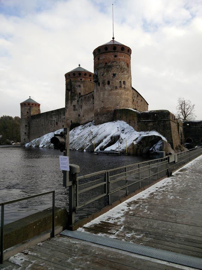 Château de Savonlinna au printemps image libre de droits