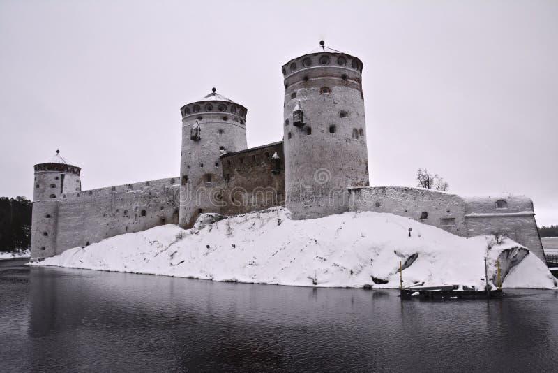 Château de Savonlinna dans Olavinlinna Finlande photographie stock libre de droits