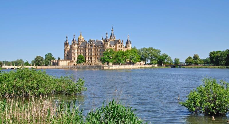Château de Schwerin, district de lac Mecklenburg, Allemagne image stock