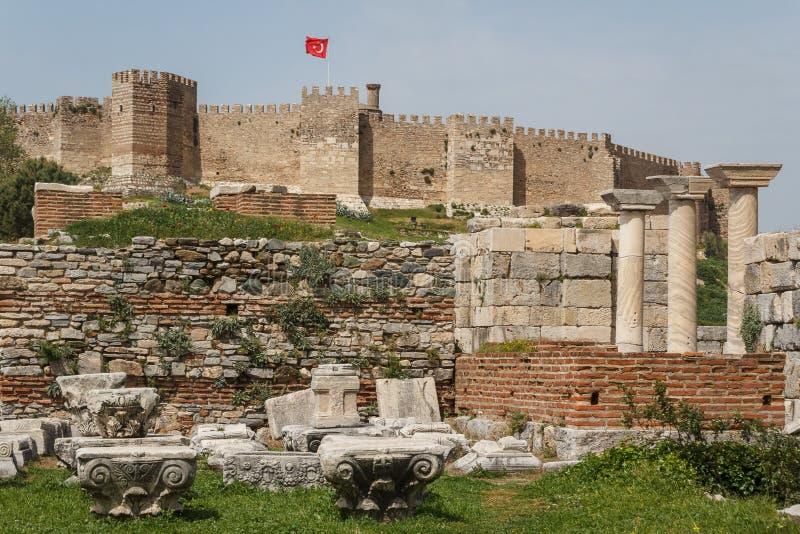 Château de Selcuk image libre de droits
